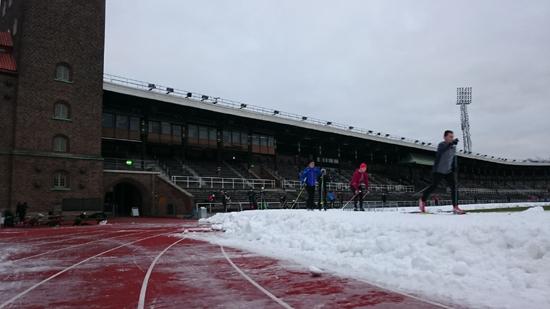 Stadion i januari
